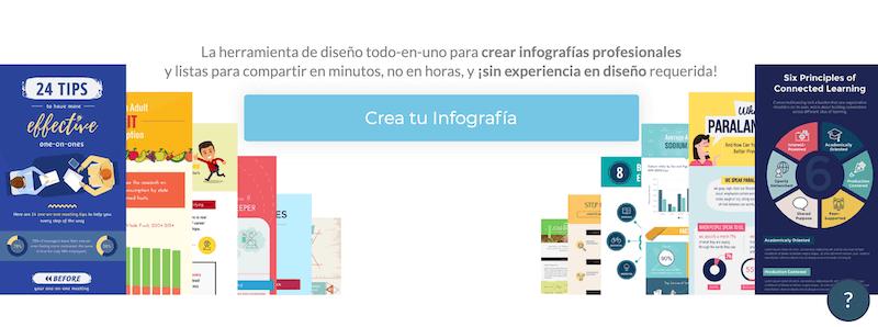 Visme, página para crear infografías gratis