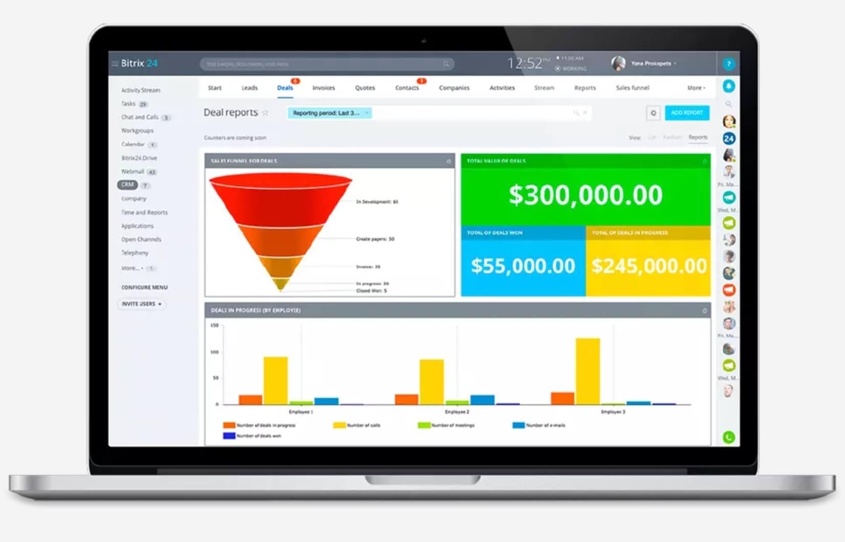 Mejores software de ventas y marketing: Bitrix24