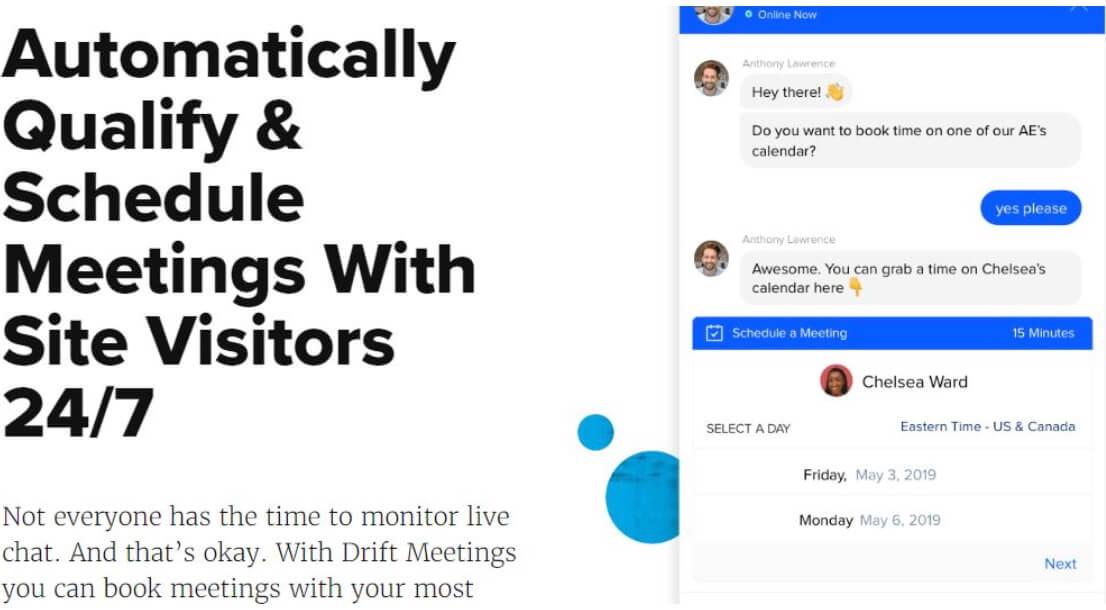 Drift, software para ventas online