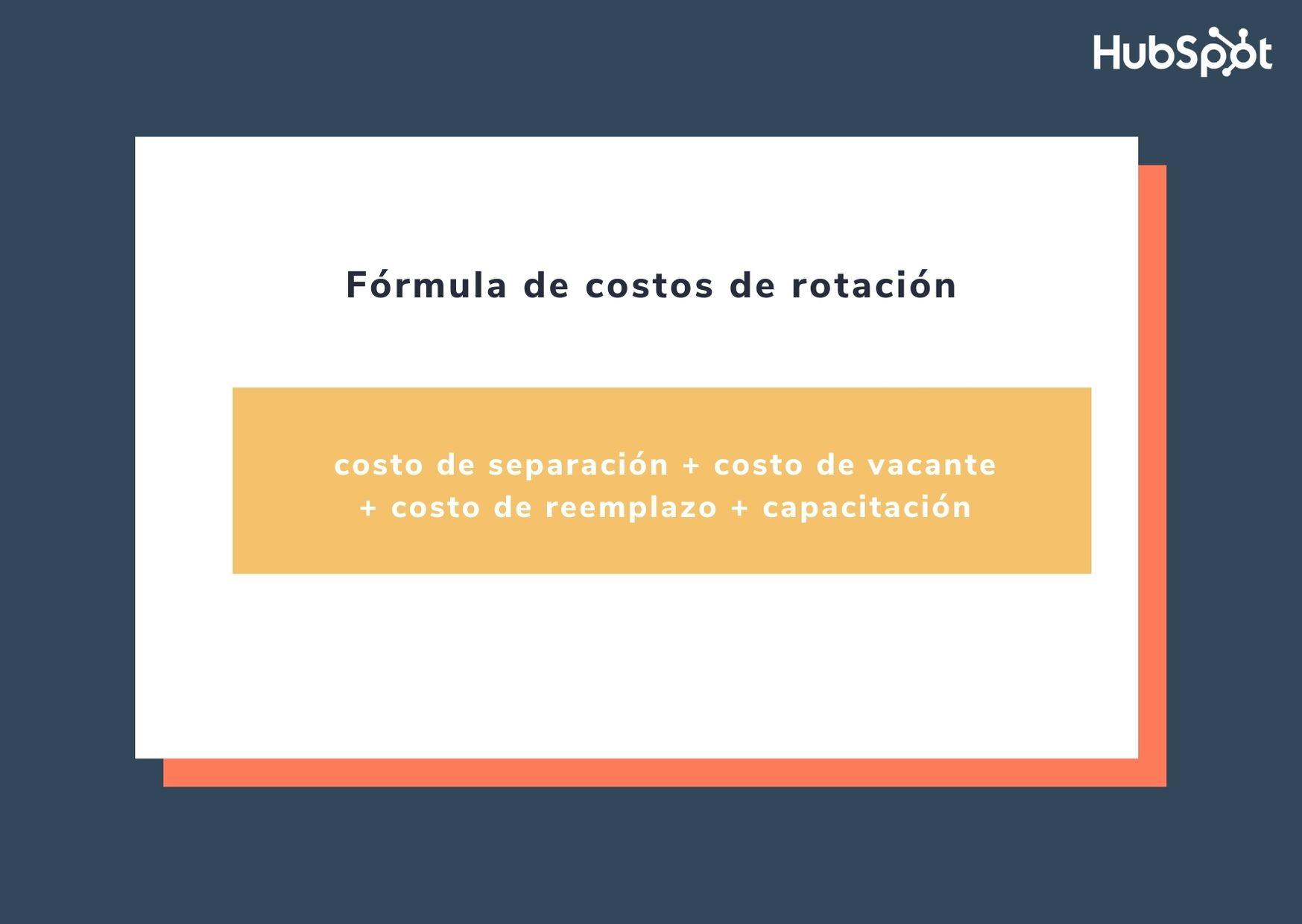Fórmula de costos de rotación de empleados