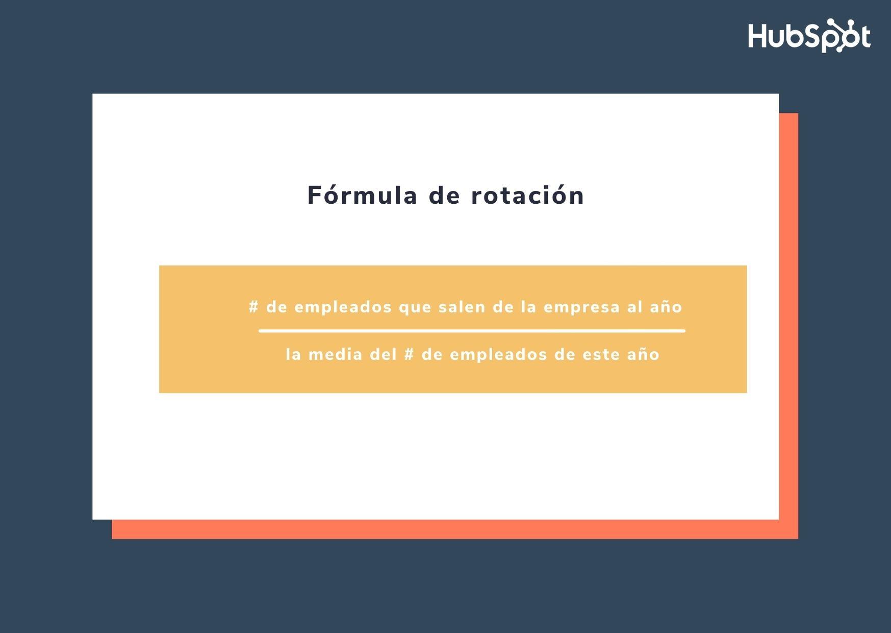 Fórmula de rotación de empleados