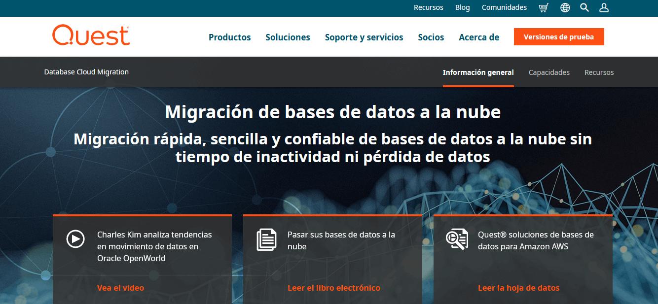Herramientas de migración de datos: Quest