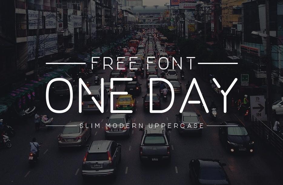 Tipografía moderna gratis para logos: One Day
