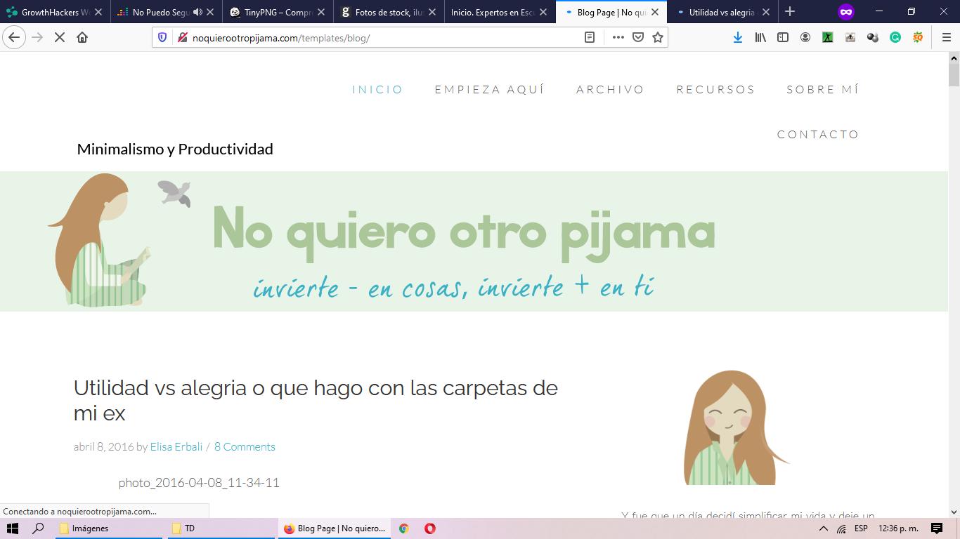 Nombre de blog creativo: No quiero otro pijama