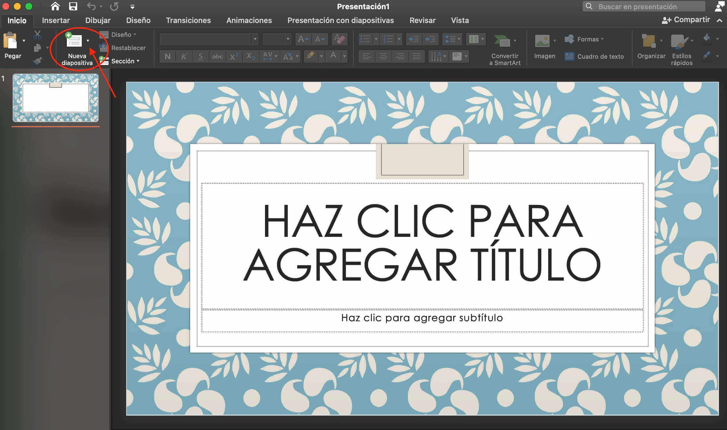 Cómo hacer una presentación de PowerPoint: inserta diapoositivas nuevas