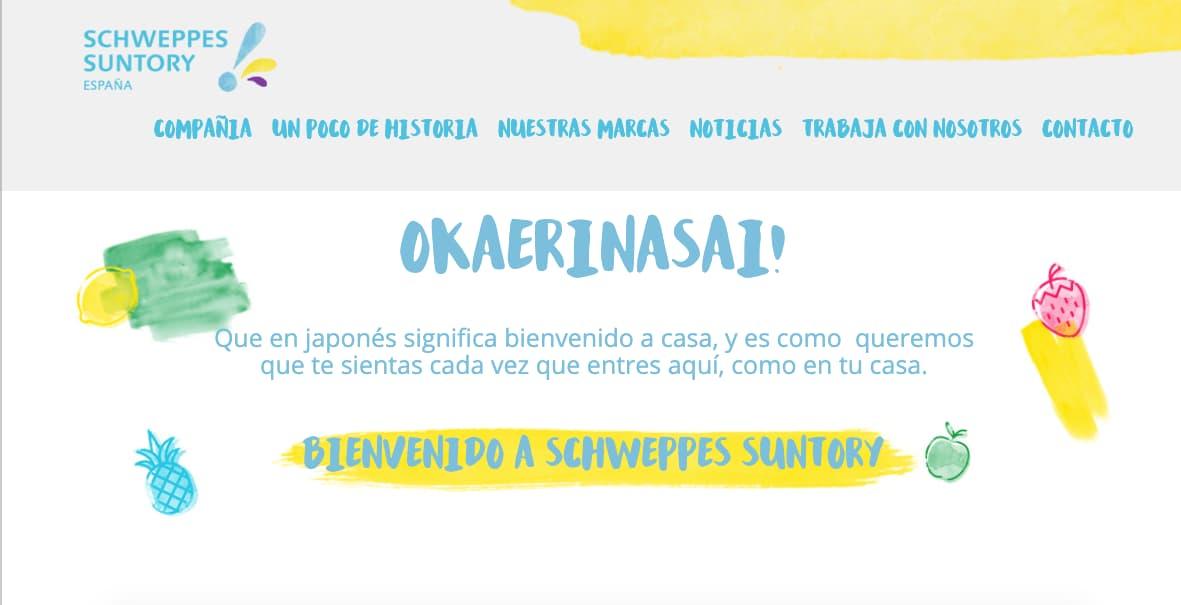 Schweppes Suntory, personalidad de la marca