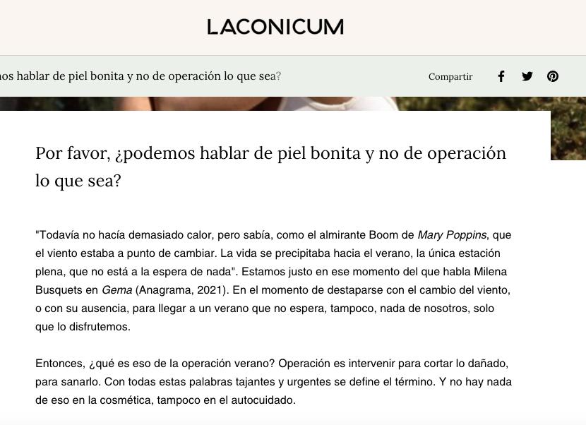 Laconium, personalidad de marca