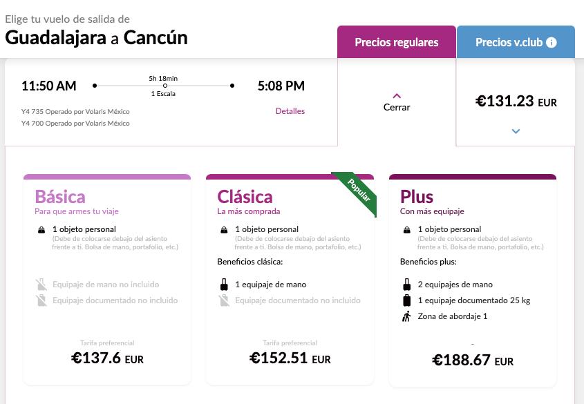 Ejemplo de personalización masiva en servicios: Volaris