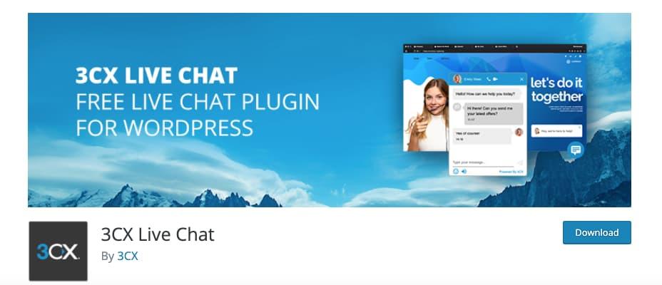 Plugin de chat para WordPress: 3CX