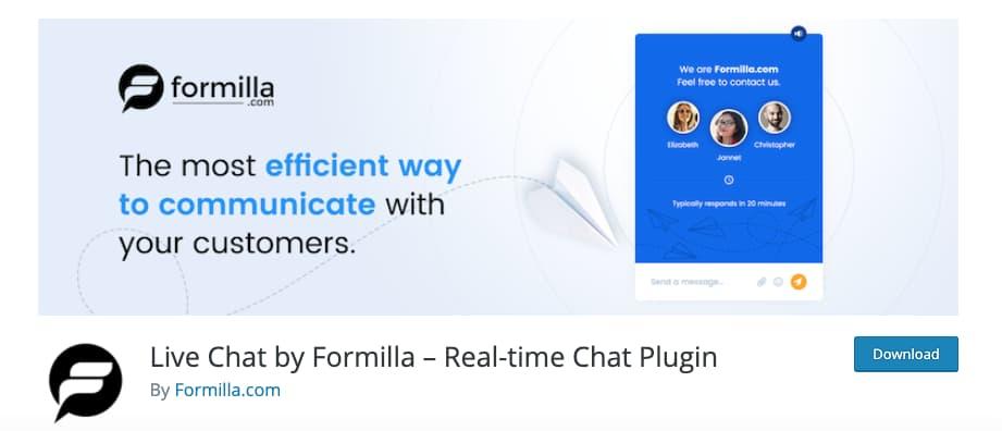 Plugin de chat para WordPress: Formilla