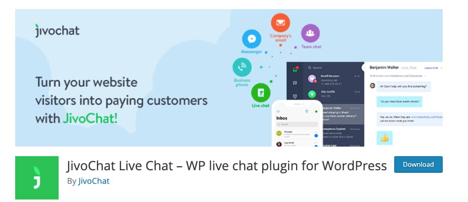 Plugin de chat para WordPress: JivoChat