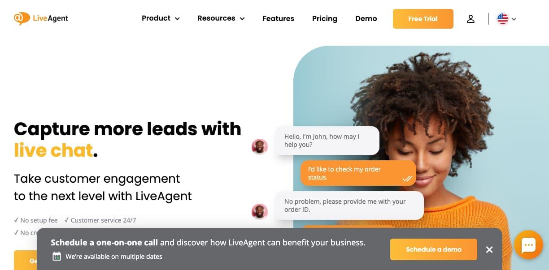 Plugin de chat para WordPress: LiveAgent