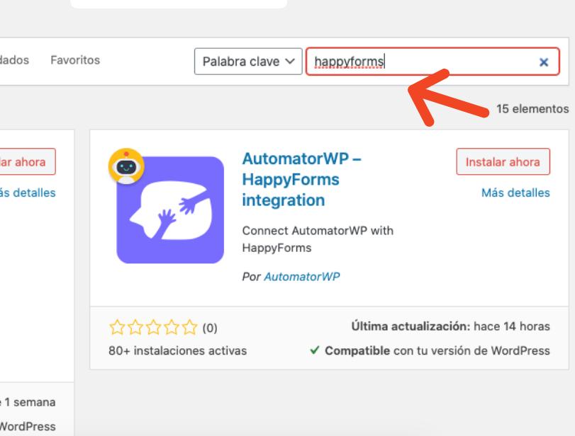 Formulario de contacto en WordPress: selección