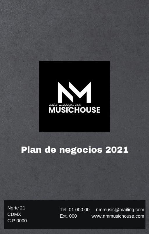 Ejemplo de portada de un plan de negocios