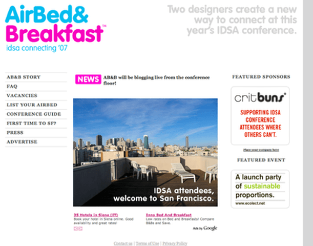 Ejemplo de emprendimiento MVP: Airbnb