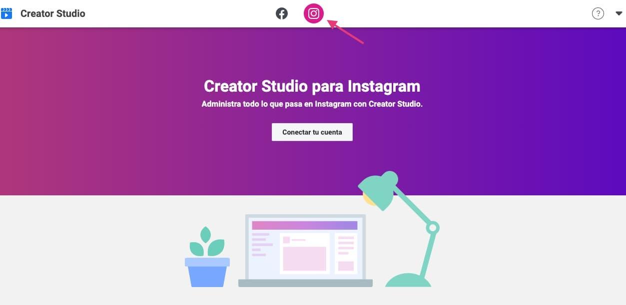 Creator Studio para programar publicaciones de Instagram