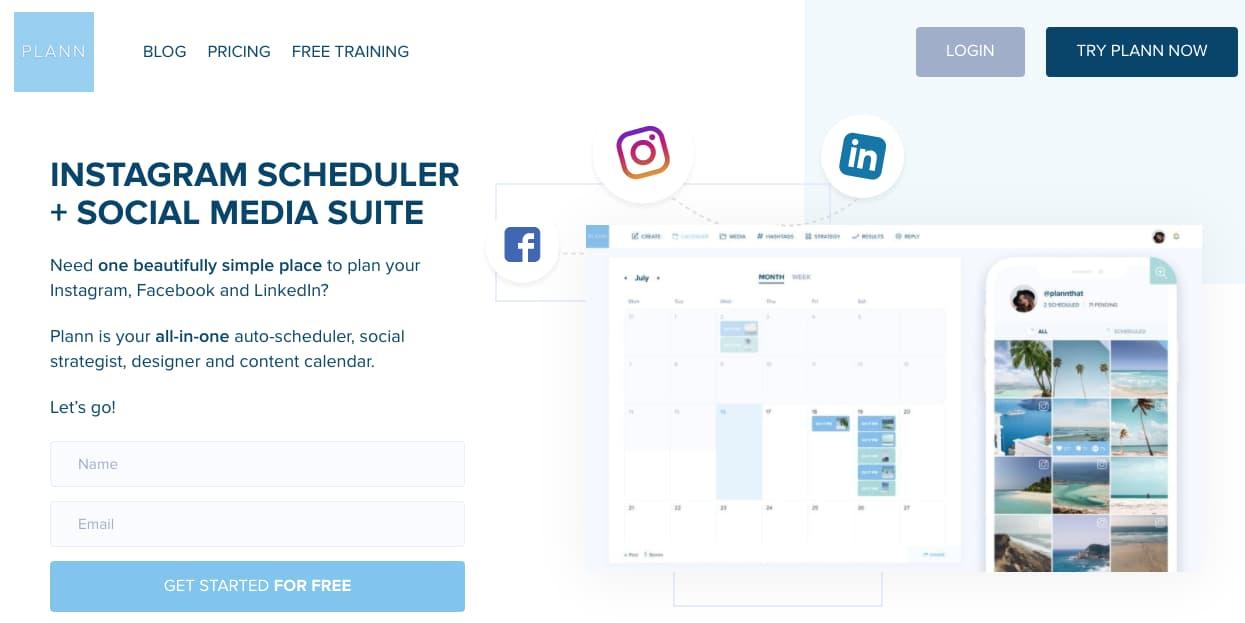 Software gratuito para programar publicaciones de Instagram: Plann