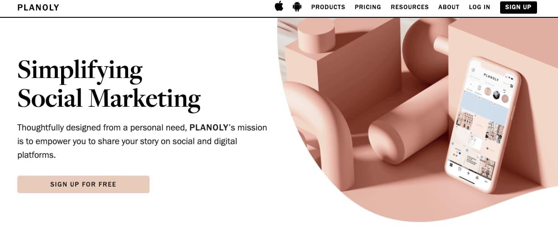 Software de pago para programar publicaciones en Instagram: Planoly