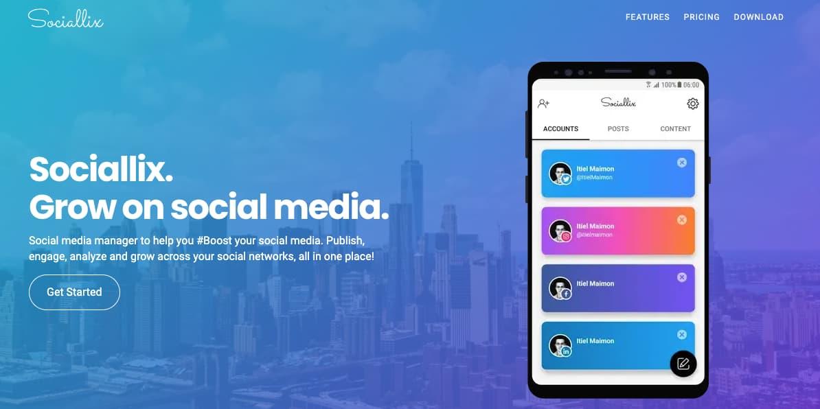 Software gratuito para programar publicaciones de Instagram: Sociallix