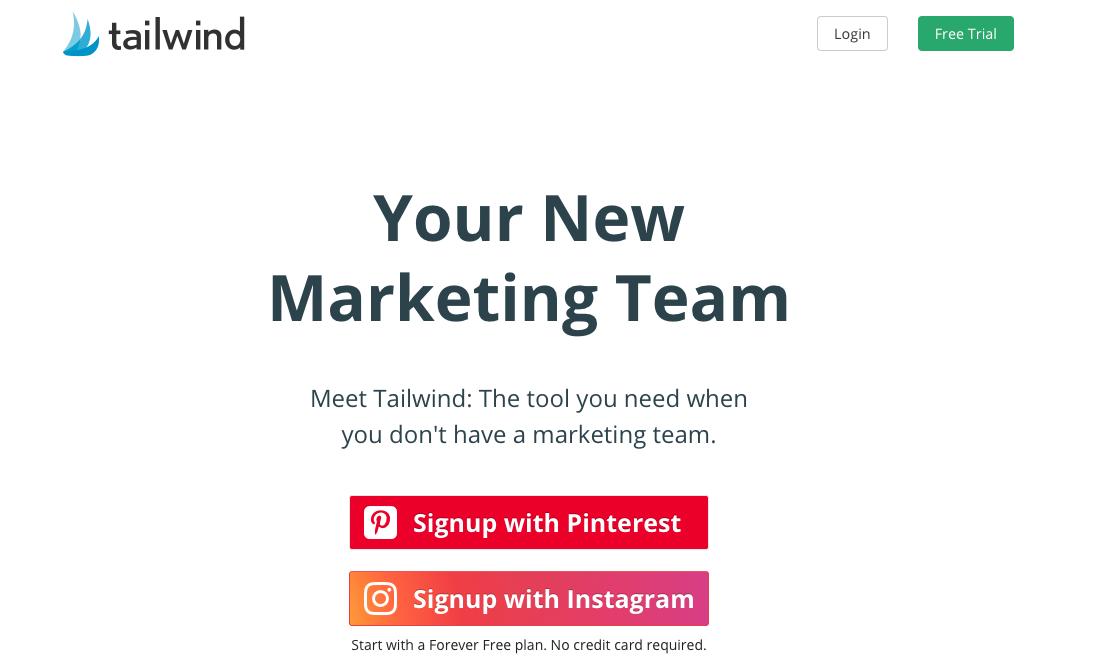 Software gratuito para programar publicaciones de Instagram: Tailwind