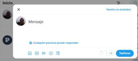 Cómo programar publicaciones en Twitter: escribir mensaje