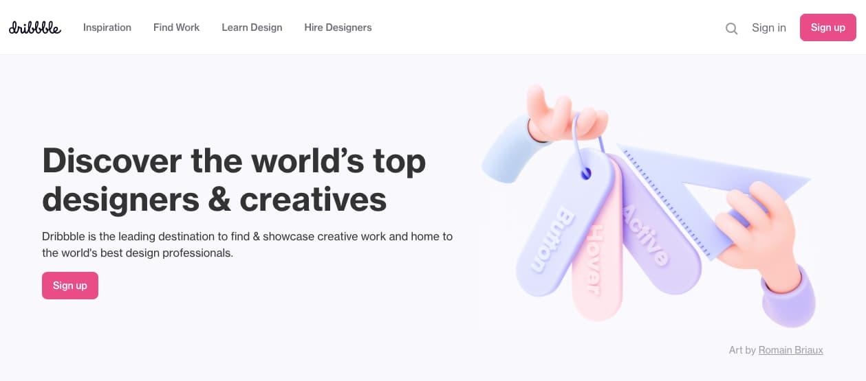 Recurso de diseño gráfico: Dribbble