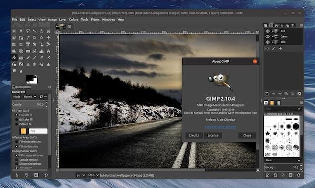 Programa de diseño grafico gratis: GIMP