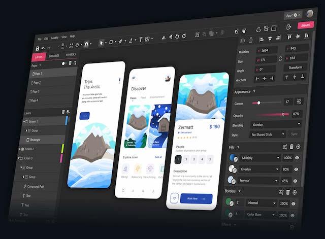 Programas de diseño grafico gratis para principiantes: Gravit Designer