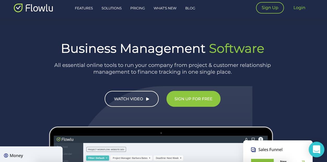 Programas de control de ventas: Flowlu