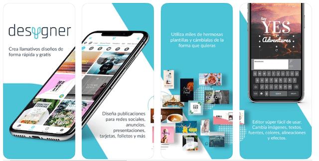 Desygner app gratis para hacer infografías en Android y iPhone