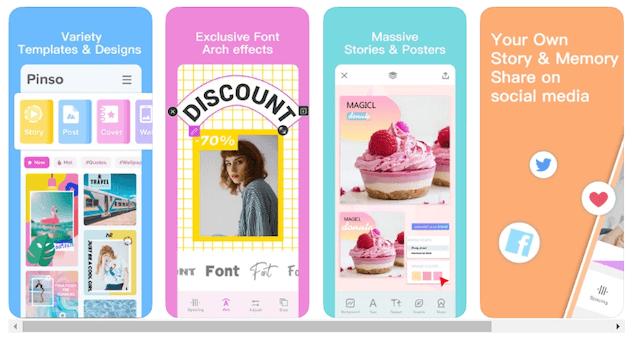 Pinso app para infografías gratis