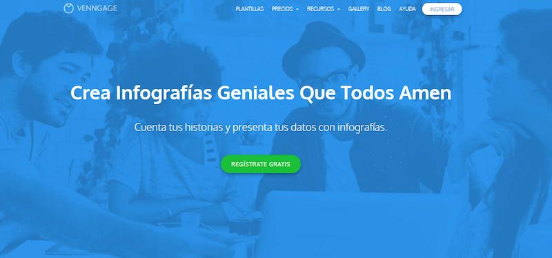 Venngage herramienta para crear infografías online