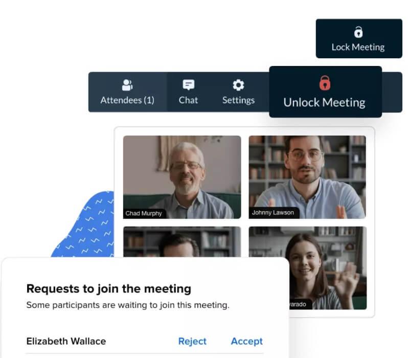 Mejores programas para videoconferencias: Zoho Meeting