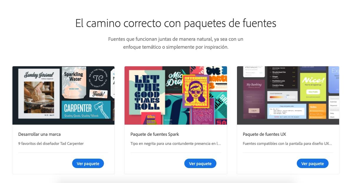 Recurso de diseño gráfico: Adobe Fonts