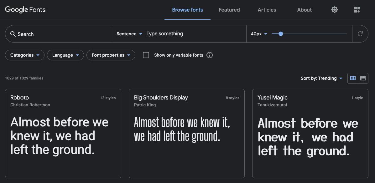 Recurso de diseño gráfico gratis: Google Fonts