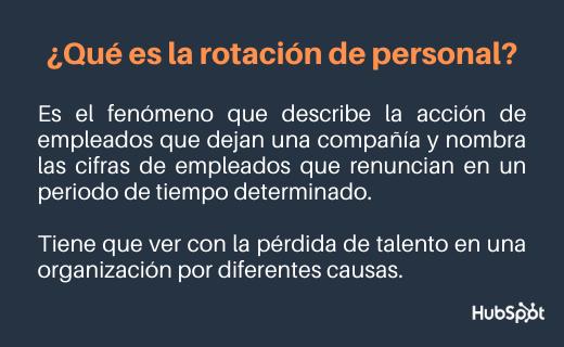 Rotación de personal en las empresas