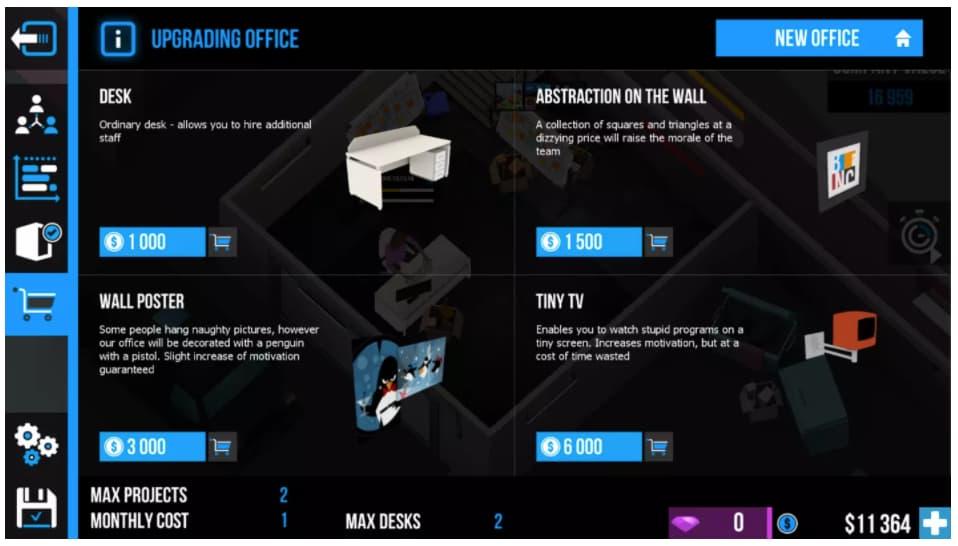 Ejemplo de simulador de negocios: Business Inc. 3D