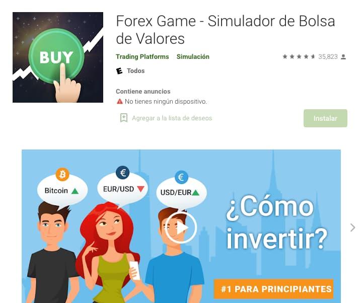 Ejemplo de simulador de negocios: Forex Game