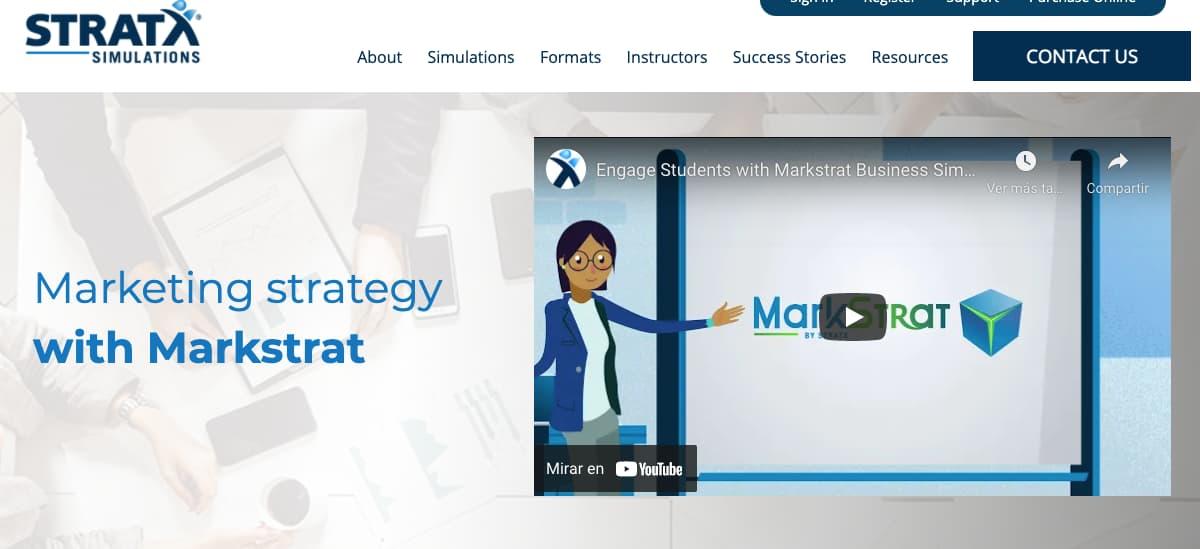 Ejemplo de simulador de negocios: Markstrat