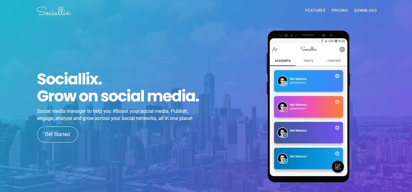 Herramientas para programar publicaciones en redes sociales: Sociallix