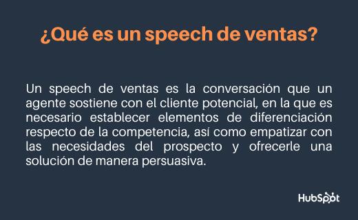 Speech de ventas: definición