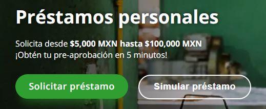 Ejemplo de squeeze page de Kubo Financiero
