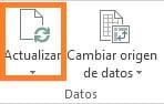 Actualizar tabla dinámica en Excel manualmente