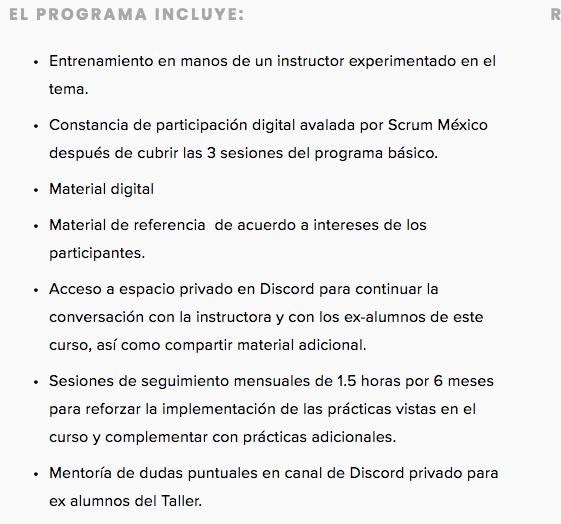 Curso online de scrum master de Scrum México