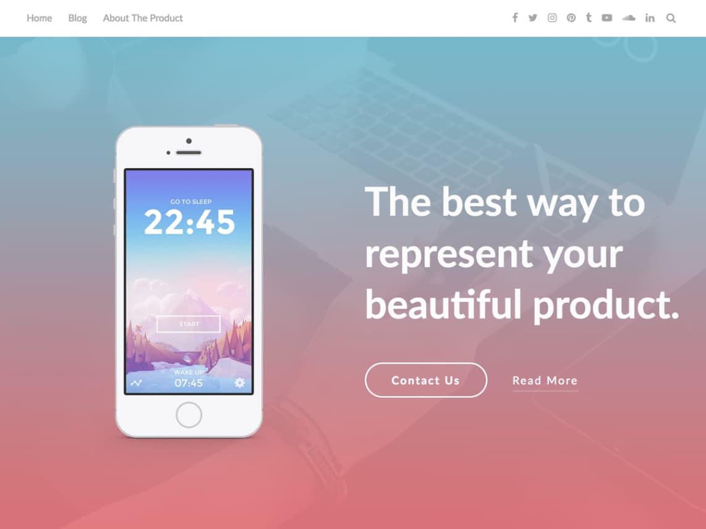 Plantilla para crear una landing page para apps: AppPage