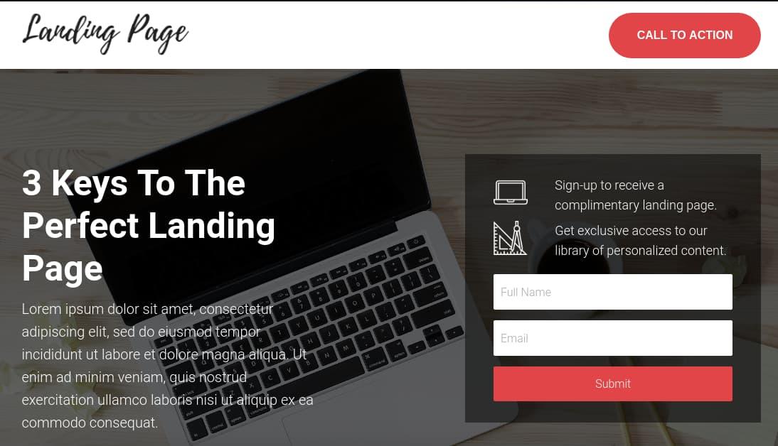 Template gratuito para landing page: Landing Form