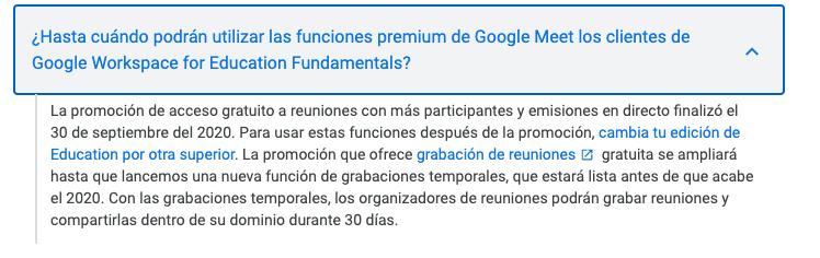 Temas de las redes sociales: uso de Google Workspace for Education