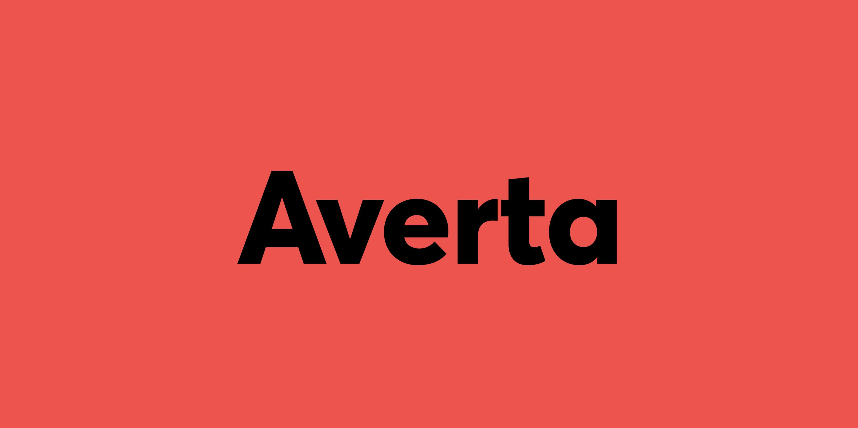 Tipografías para web: Averta
