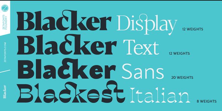 Tipografías para web: Blacker