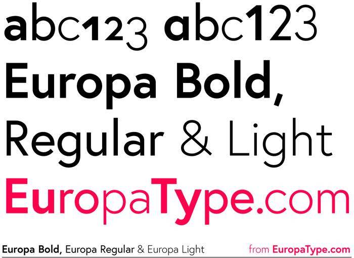 Tipografías para web: Europa